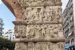 Roman Arch van Galerius in het centrum van stad van Thessaloniki, Centraal Macedonië, Griekenland stock foto's