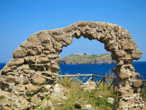 Roman arch in Ventotene island Stock Photography