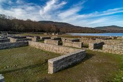 Roman archaeological complex Aquis Querquennis. Roman archaeological complex formed by a Roman camp and a road mansion, located in the parish of Baños de royalty free stock photography