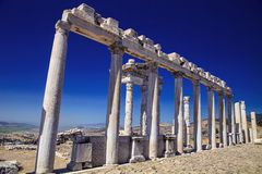 Roman archaeological monuments, Bergama, Turkey Royalty Free Stock Image
