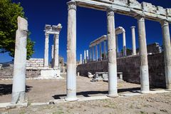 Roman archaeological monuments, Bergama, Turkey Royalty Free Stock Photography