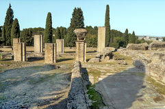 Roman archaeological remains Stock Image
