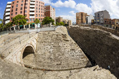 Roman archaeological site in Algeciras, Spain. Royalty Free Stock Photo