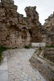 Ruins with marbel floors in ancient Salamis Royalty Free Stock Photography