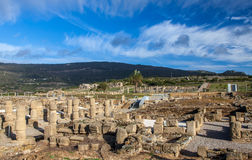 Roman archaeological site area  Baelo Claudia. Bolonia Andalusia Spain Royalty Free Stock Image
