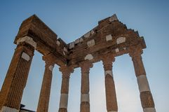 Roman archaeological site. In Brescia Royalty Free Stock Image