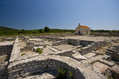 Roman archeological site Royalty Free Stock Photo