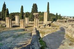 Roman archeologische overblijfselen Stock Afbeelding