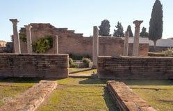 Roman archeologische overblijfselen Royalty-vrije Stock Afbeeldingen