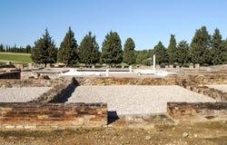Roman archeologische overblijfselen Stock Foto's