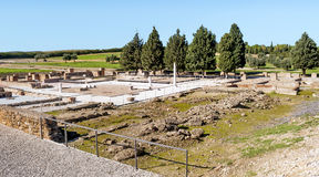 Roman archeologische overblijfselen Stock Afbeeldingen