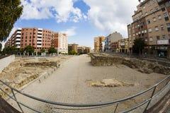 Roman archeologische plaats in Algeciras, Spanje stock afbeelding