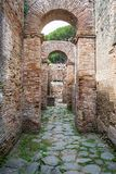 Roman arches in the old town of Ostia, Rome, Italy Royalty Free Stock Photography