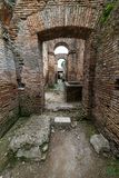 Roman arches in the old town of Ostia, Rome, Italy Royalty Free Stock Photo