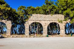 Roman arches rum in Phaselis, Turkey Stock Image