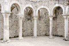 Roman arches in the town Rab Stock Photo