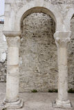 Roman arches in the town Rab Royalty Free Stock Images