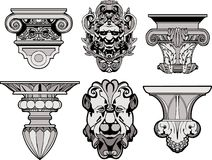 Roman Architectural Decorations Royalty Free Stock Images