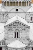 Roman architectural window walls Royalty Free Stock Photos