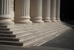 Roman architecture. With stone columns and stairs Royalty Free Stock Image