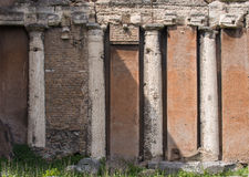 Roman architecture, columns and facade Stock Images
