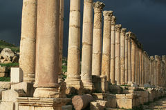 Roman architecture in Jerash Royalty Free Stock Image