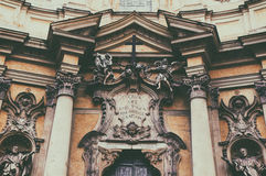 Roman architecture. Vintage style. Picture of a church in Rome, Italy featuring beautiful roman architecture. Vintage/retro style royalty free stock image