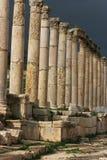 Roman architectuur in Jerash Stock Fotografie