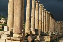 Roman architectuur in Jerash Royalty-vrije Stock Afbeelding