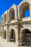 Roman Arena / Amphitheater in Arles Stock Photos