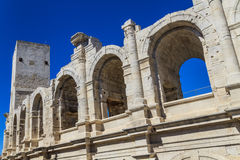 Roman Arena / Amphitheater in Arles Stock Photo