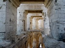 Roman Arena/ Amphitheater in Arles, Provence, France Stock Image