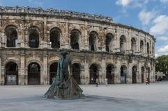 Roman Arena in Arles, France Stock Image