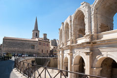 The roman arena and christian church Royalty Free Stock Photography