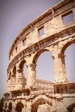 Roman Arena in Croatia Stock Image