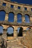 Roman Arena in den Pula Kroatien Stockbilder