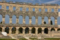 Roman Arena in den Pula Kroatien Lizenzfreie Stockbilder
