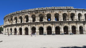 Roman Arena. Located in Nimes, France that is still used for bullfighting today Stock Images