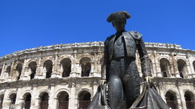 Roman Arena. Located in Nimes, France that is still used for bullfighting today Royalty Free Stock Image