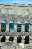 Roman Arena na Croácia fotografia de stock royalty free