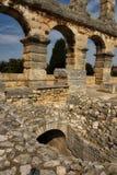 Roman Arena na Croácia dos Pula imagens de stock royalty free