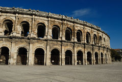 Roman arena in Nimes France Royalty Free Stock Photography