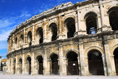 Roman arena in Nimes France Royalty Free Stock Images