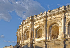 Roman arena in Nimes France Royalty Free Stock Photo