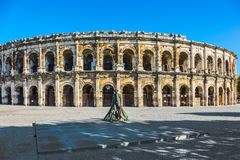 Roman arena in Nimes Royalty Free Stock Images