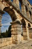 Roman Arena in Pola Croazia immagine stock