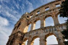 Roman Arena in Pola Croazia fotografia stock