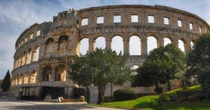 Roman Arena in Pola Croazia fotografie stock libere da diritti