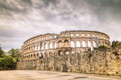 The Roman Arena in Pula, Croatia. Stock Photo