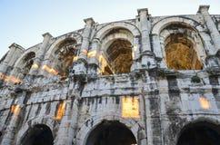 Roman Arena van Nîmes, Frankrijk Royalty-vrije Stock Fotografie